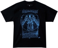 T Shirt Lg Doctor Who Vitruvian Angel