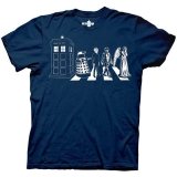 T Shirt Lg Dr Who Detailed Street Crossing
