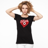 Zia Records T Shirt Heart Design Size Small