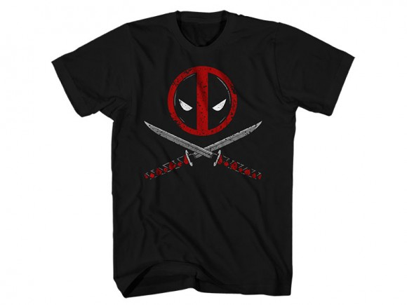 T Shirt 2xl Deadpool Crossbones