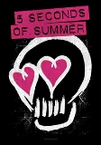 Textile Posters Five Seconds Of Summer Skull Love