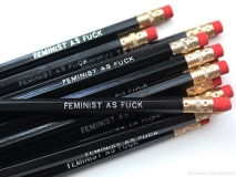 Pencil Set Feminist As Fuck Set Of 5