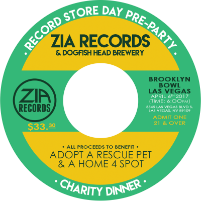 Zia Records Charity Dinner 2017 Brooklyn Bowl Las Vegas April 6 2017 21& Over With Id April 6 2017