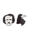 Enamel Pin Set Edgar Allan Poe