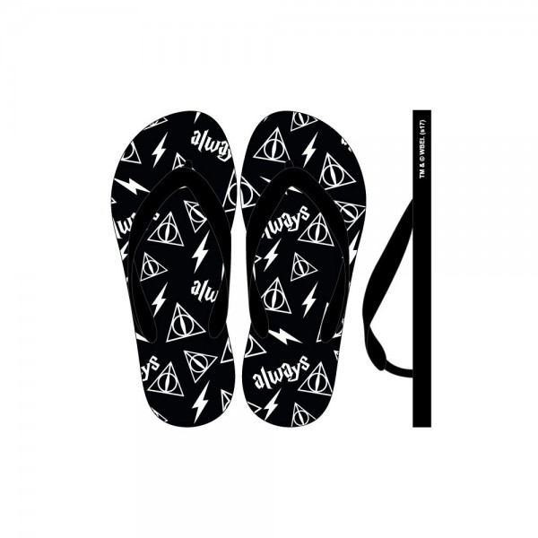 Flip Flops Harry Potter Deathly Hallows Small M(6 7) W7 8)