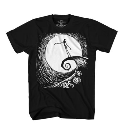 T Shirt Xl Nightmare Before Xmas Spiral Standing