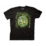 T Shirt Xl Rick & Morty Portal & The Monsters