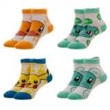 Socks Ankle Pokemon 4pk Size 7 9