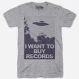 T Shirt Large I Want To Buy Records