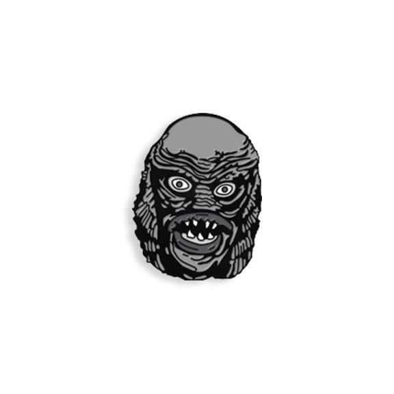 Enamel Pin Maniac Monster The Creature B W