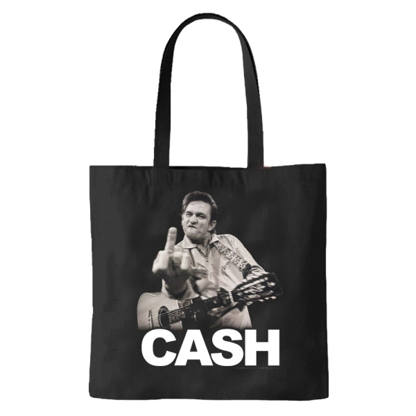 Tote Bag Johnny Cash The Bird