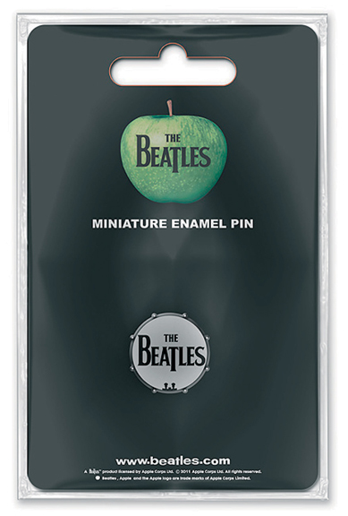 Enamel Pin Beatles Drum Head