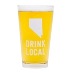Pint Glass Nevada Drink Local