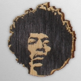 Wood Ornament Jimi Hendrix