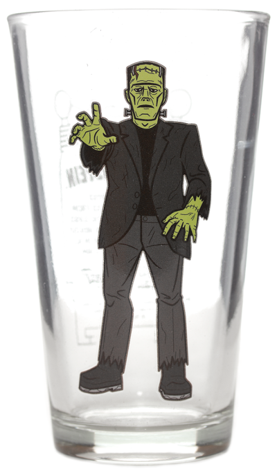 Pint Glass Universal Monsters Drinkware Frankenstein