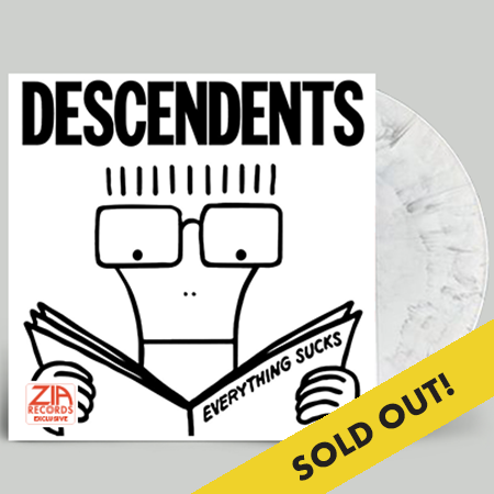 Descendents Everything Sucks Zia Exclusive(white & Black Swirl) * Numbered Limited To 300