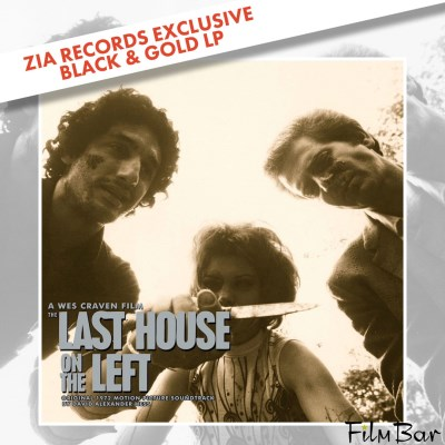 Last House On The Left + Movie Ticket Soundtrack + Filmbar Ticket David Hess Zia Exclusive (black & Gold Swirl)