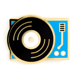 Enamel Pin Record Player